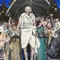 Gandhi | 180x130 cm | Acrylic on canvas | 2016