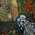 Peacocks | 200x150 cm | Acrylic on Canvas | 2013