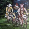 Riders | 240x180 cm | Acrylic on canvas | 2015